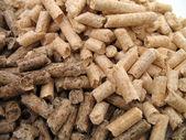 Wood pellets closeup — Stock Photo