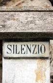 Silence inscription — Stock Photo