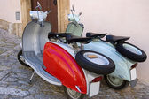 Famous old fashioned italian scooter — Stock Photo