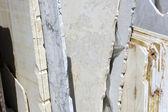 White marble block — Stock Photo