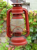 Red oil lamp — Stock Photo