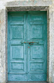 Old green door — Stock Photo
