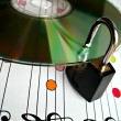 Music piracy protection — Stock Photo #1254993