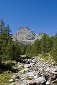 """Leone"" mount and Alpe Veglia — Stock Photo"
