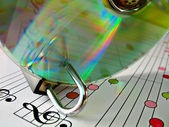 Music piracy protection — Stock Photo