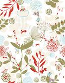 Botaniska trädgården och lite vänner vii — Stockvektor