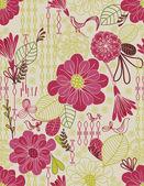 Blumen garten — Stockvektor