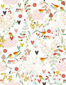 Frühling-kimono — Stockvektor