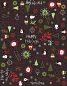 Happy Holidays III — Vector de stock