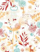 Botanischer garten und kleinen freunde — Stockvektor