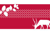 Vector graphic displaying a deer and ornamental border. — Stock Vector