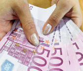 Banknotes - Euro — Stock Photo