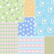 Patchwork background — Image vectorielle