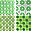 Clover backgrouonds — Imagen vectorial