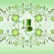 Royalty-Free Stock Vector Image: Leprechaun\'s hut and clover