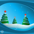 Christmas fur-trees - Stock Vector