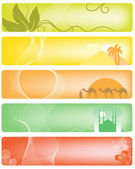 Set of 5 banner — Stock Vector