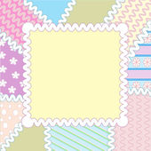 Patchwork frame — Stock Vector