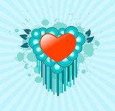 Heart with blotch — Stock Vector