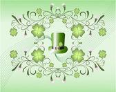 Leprechaun's hut and clover — Stock Vector
