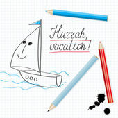 Hurrah, vacation! — Stock Vector