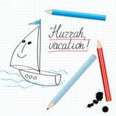 Hurrah, vacation! — Stock Vector