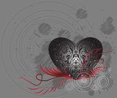 San Valentino stilizzato — Vettoriale Stock