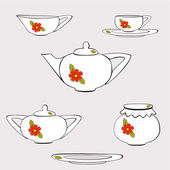 Crockery — Stock Vector