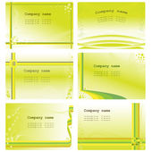 Set of six visit cards templates — Stock Vector