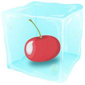 Frozen cherry — Stock Vector