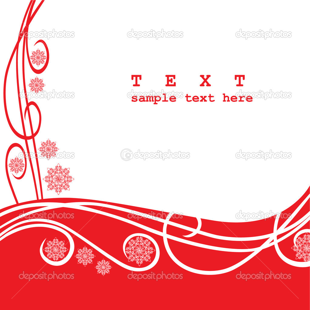 Xmas design in red — Stock Vector #1243827