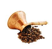 Cezve and coffee — Stock Photo