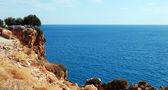 средиземноморский - побережье и море — Стоковое фото