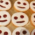 Sweet cookies with jam — Stock Photo
