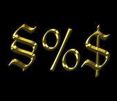Gold antique symbols — Stock Photo