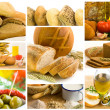 Beautiful healthy food collage — Stock Photo