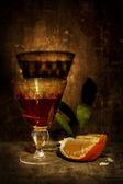 Mandarin und Alkohol — Stockfoto