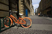 Bike in the city — Stock Photo