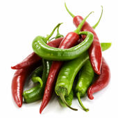Red and green chillis — Stock Photo