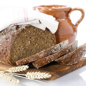 Milk and bread — Stock Photo