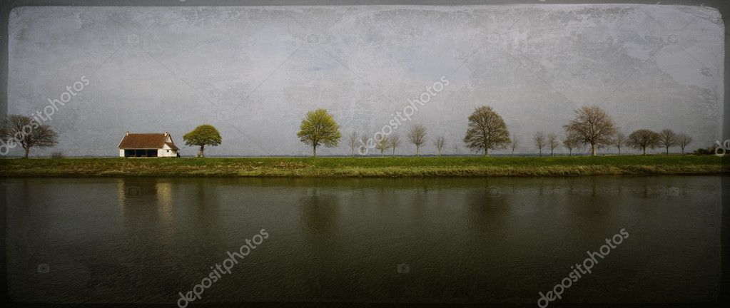 Countryside. Old-fashioned artistic landscape — Stock Photo #1263230