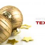 Gold Christmas balls — Stock Photo #1397994