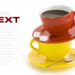 Red and yellow cups — Stock Photo