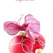 Red christmas balls — Stock Photo #1453889