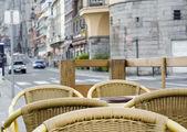 Street restaurant (Europe) — Stock Photo