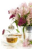 Flores y té de hierbas — Foto de Stock