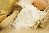 Bread preparation — Stock Photo