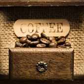 Close up of Antique coffee grinder — Stock Photo