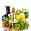 Stock Photo: Vegetables still life with olive oil