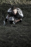 Agressive Roman soldiers. Photo. — Stock Photo